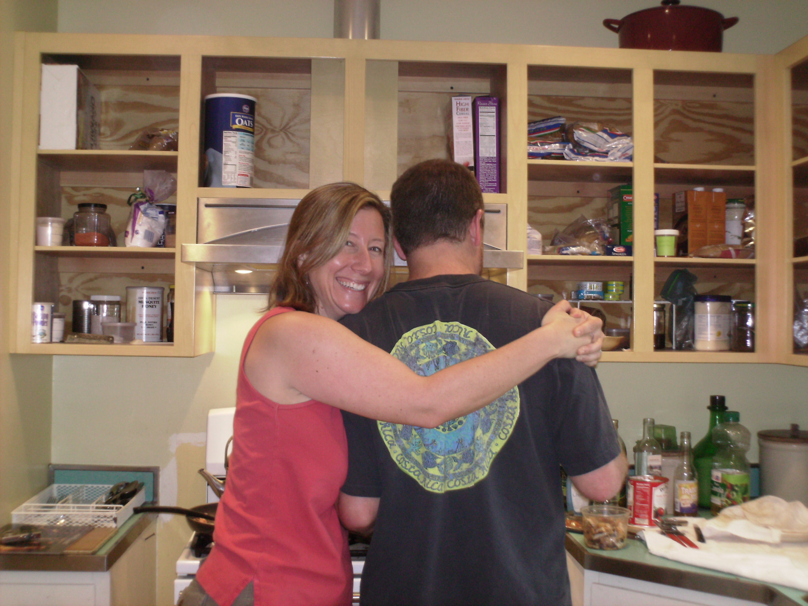 CLAY AND EMILY IN THE KITCHEN--CUTE COUPLE