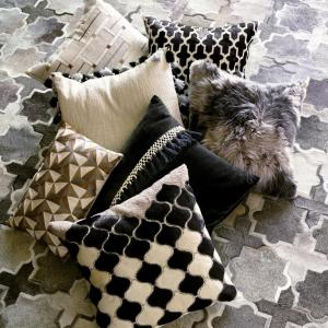 Rory Geometric Tile Hide Decorative Pillow