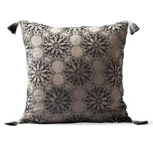 Suki Melange Beaded Decorative Pillow