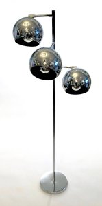 Three-Light Chrome Floor Lamp