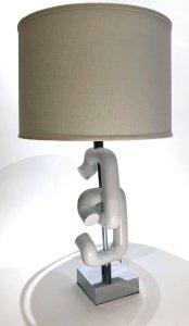 Pair Of 1960S Sonneman Interlocking Sculpture Table Lamps