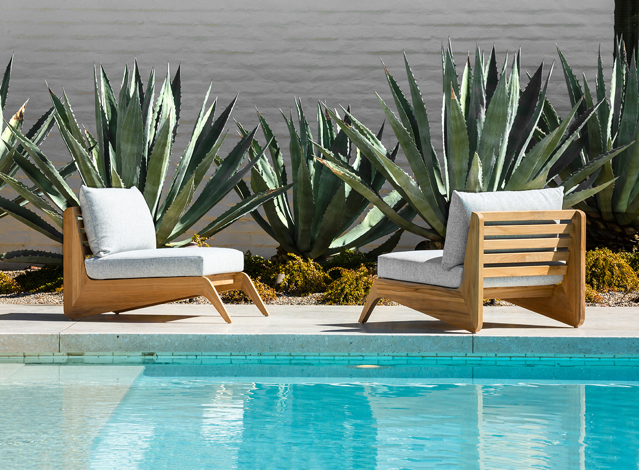 Martyn Lawrence Bullard's MLB collection of outdoor furniture for Harbour Outdoor