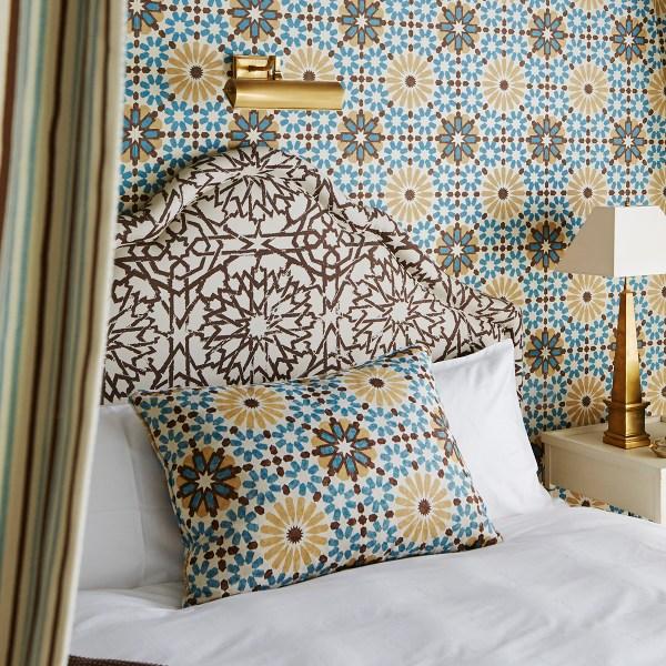 Mamounia Raffia brown indoor fabric by Martyn Lawrence Bullard