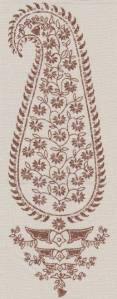 Patka Paisley tobacco indoor fabric by Martyn Lawrence Bullard