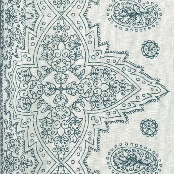 Fez Border Indigo blue indoor fabric by Martyn Lawrence Bullard