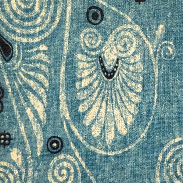 Kerylos Indian Ocean blue indoor fabric by Martyn Lawrence Bullard