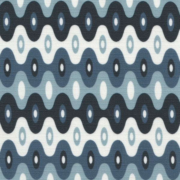 Kubla Mini Ocean blue outdoor fabric, designed by Martyn Lawrence Bullard
