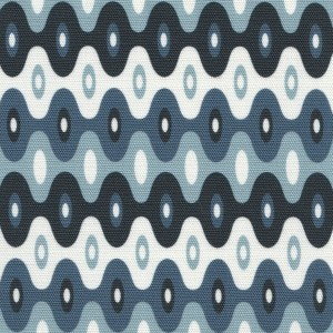 Kubla Mini Ocean blue outdoor fabric, designed by Martyn Lawrence Bullard