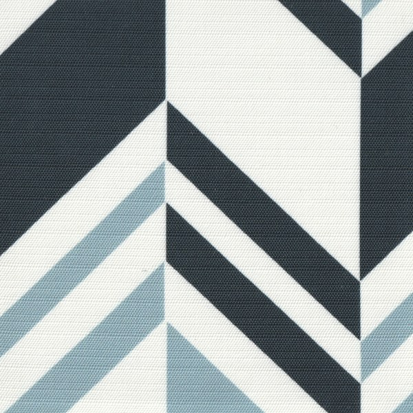 Raleigh Stripe Ocean blue outdoor fabric, designed by Martyn Lawrence Bullard
