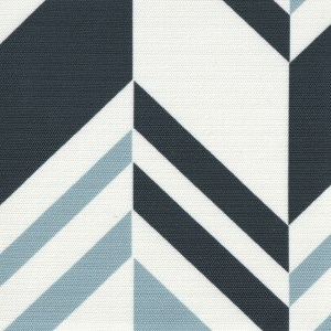 Raleigh Stripe Ocean blue outdoor fabric, designed by Martyn Lawrence Bullard