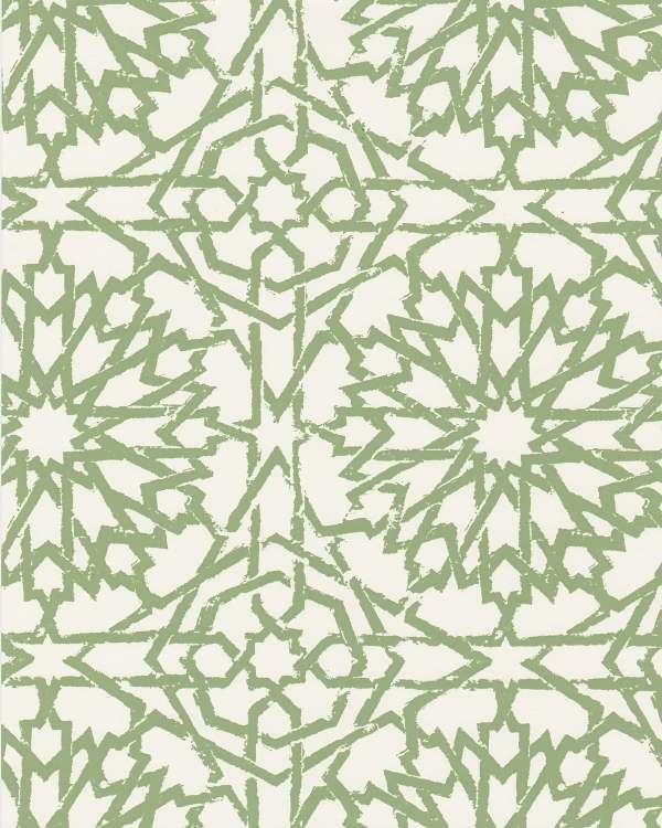 Mamounia Petite emerald wallpaper by Martyn Lawrence Bullard
