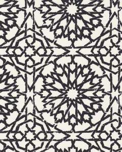 Mamounia Petite ebony wallpaper by Martyn Lawrence Bullard