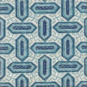 Kaftan blue indoor fabric by Martyn Lawrence Bullard