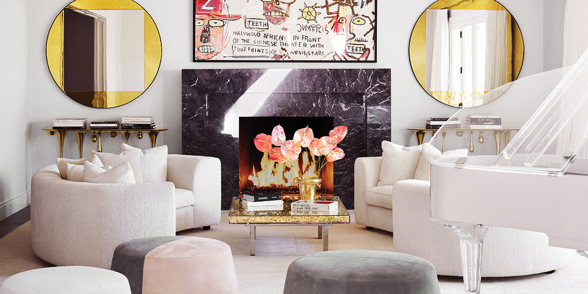 Kylie Jenner Living room designed by Martyn Lawrence Bullard