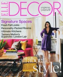 Elle Decor Cover Tamara Mellon's UK Flat, Designed by Martyn Lawrence Bullard