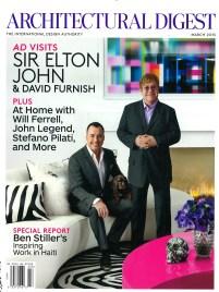 Architectural Digest Elton John designed by Martyn Lawrence Bullard