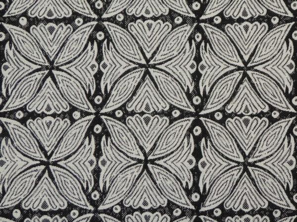 Kabba Kabba charcoal Indoor/Outdoor Performance Woven fabric by Martyn Lawrence Bullard