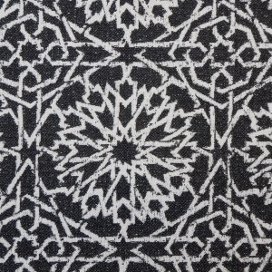 Mamounia Petite charcoal Indoor/Outdoor Performance Woven fabric by Martyn Lawrence Bullard