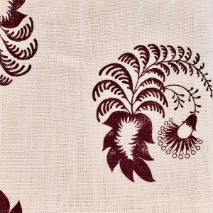 Indagare Eggplant 100% linen indoor fabric by Martyn Lawrence Bullard.