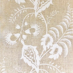 Indagare Trellis white on natural 100% linen indoor fabric by Martyn Lawrence Bullard.