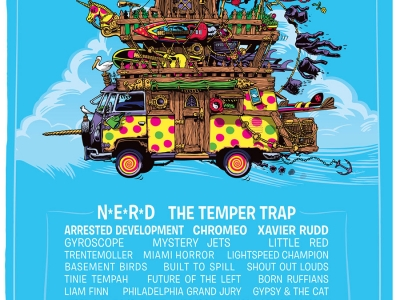 Pyramid Rock Festival poster design by Marty Schneider