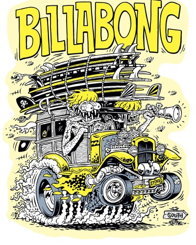 Billabong Wild Woody T-Shirt Design by Marty Schneider