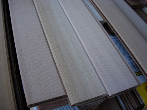 """Re-Sawn face of 4"""" Clear T&G V4E 425-353-3305"""