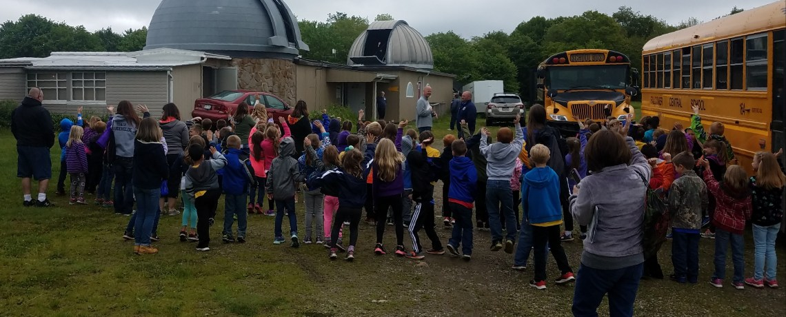 97 students from Falconer elementary school visits the Martz/Kohl observatory