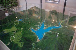 山王海ダムのジオラマ模型