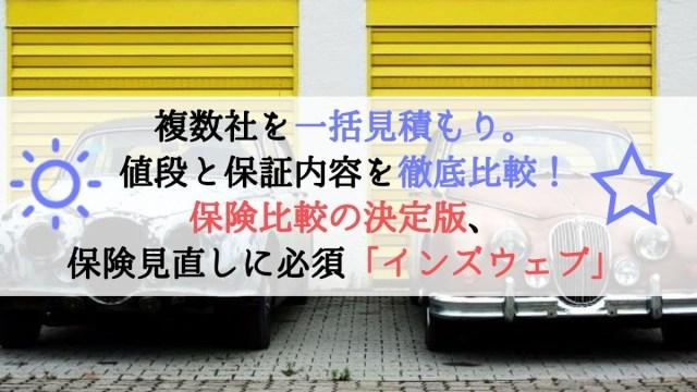 【タイトル】保険の比較、無保険だけはNG車