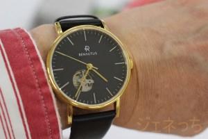 ルノータス腕時計実際腕に、してみた