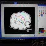 SurfaceLaptopBlue、ペンを使って絵をかいてみた