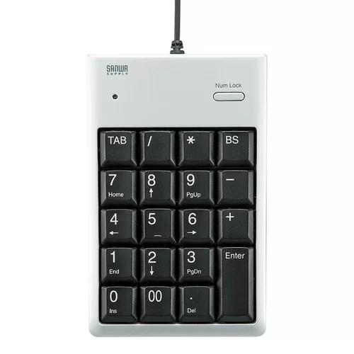 サンワサプライ USB2.0ハブ付テンキー NT-16UH2SVN