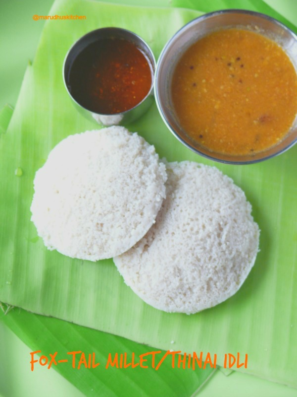 millet foxtail idli/thinai arisi(rice)idli