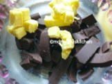 MELT BUTTER AND CHOCOLATE INA DOUBLE BOILER