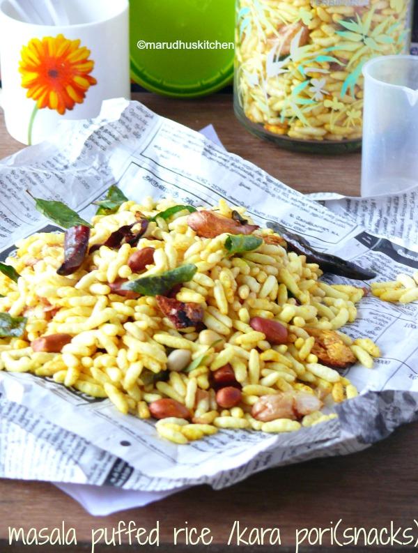 masala puffed rice /kara pori(snacks)