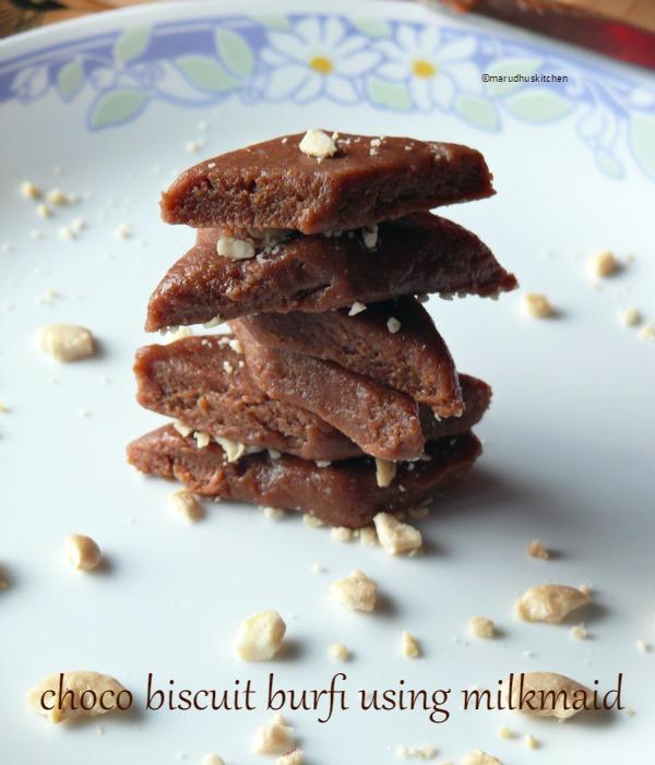 condensed milk burfi recipe/choco burfi