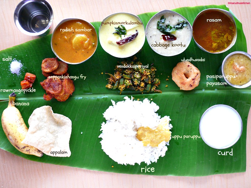 south indian menu list pdf