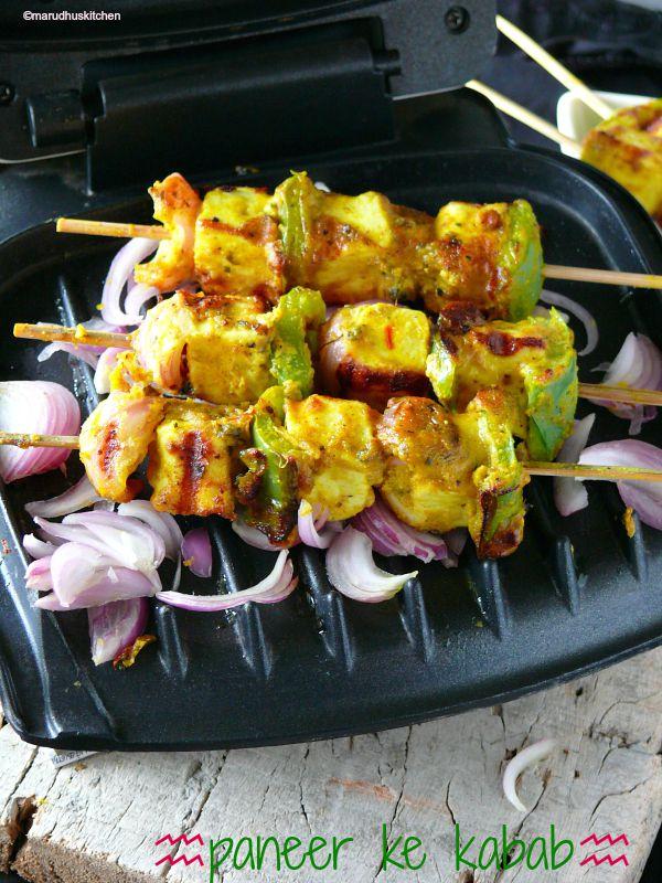 paneer ke kabab (tikka style)