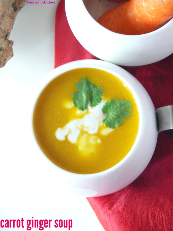 recipe carrot soup /carrot ginger soup