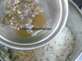 ADD TAMARIND WITH WATER TO WASHED POHA