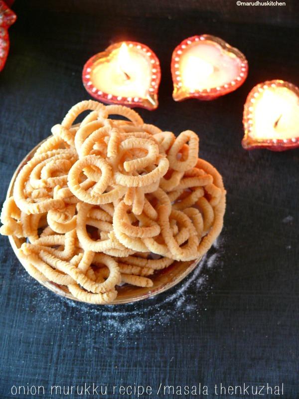 onion murukku recipe /masala thenkuzhal/vengaya murukku