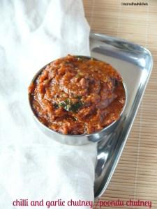 chilli and garlic chutney /poondu chutney