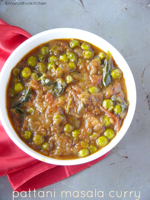 pattani masala curry /green peas gravy for chappathi and rice