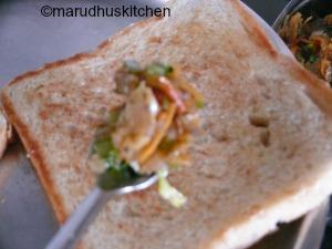 bread masala sandwich recipe / iyengar bakery style