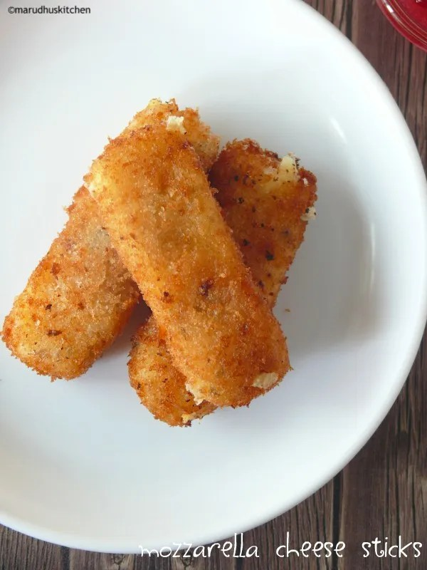 homemade mozzarella cheese sticks recipe / deep fried without eggs