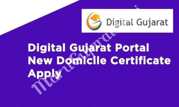 Digital Gujarat Portal New Domicile Certificate Apply » MaruGujaratDesi