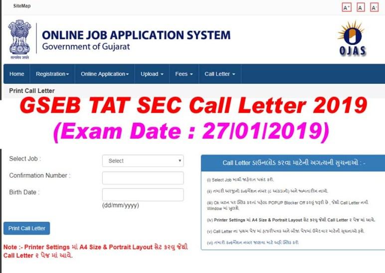 TAT SEC 2019 Call Letter