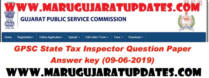 GPSC State Tax Inspector Answer key 2019 | Download Question Paper