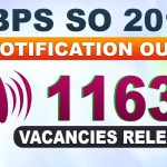 IBPS Recruitment for 1163 Specialist Officers (SO) Posts 2019